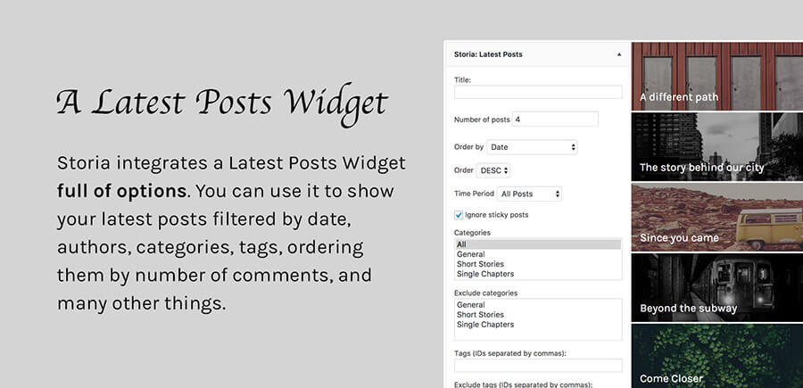 Storia - A WordPress Theme for Writers, Bloggers, Storytellers - 3